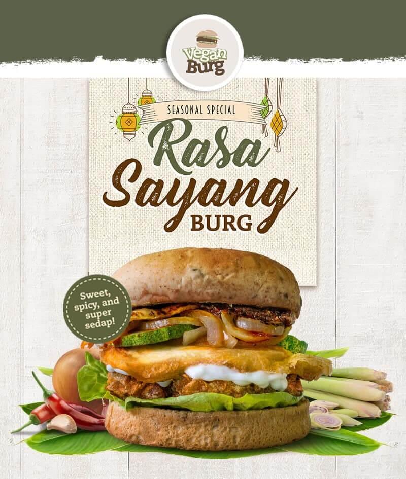 Vegan Burg Rasa Sayang burger
