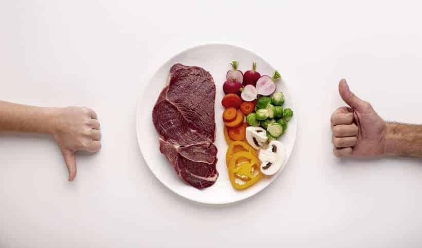 meat vs vegetables