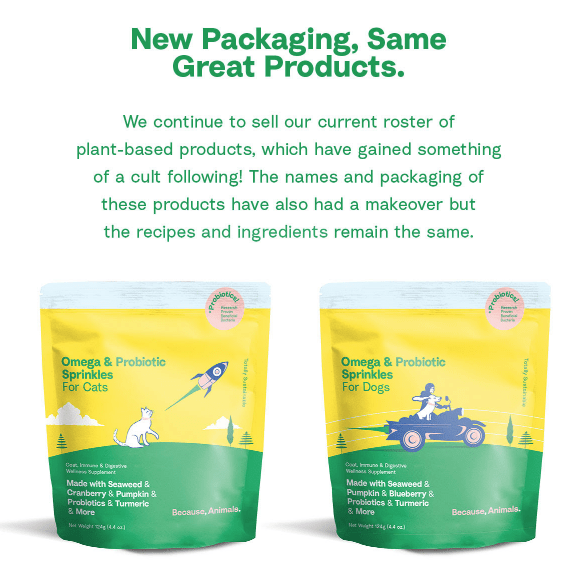 Because, Animals packaging