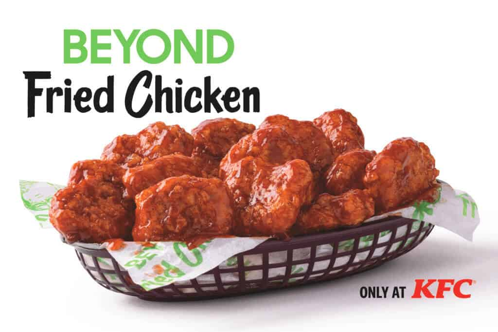 Beyond Fried Chicken nuggets with sauce
