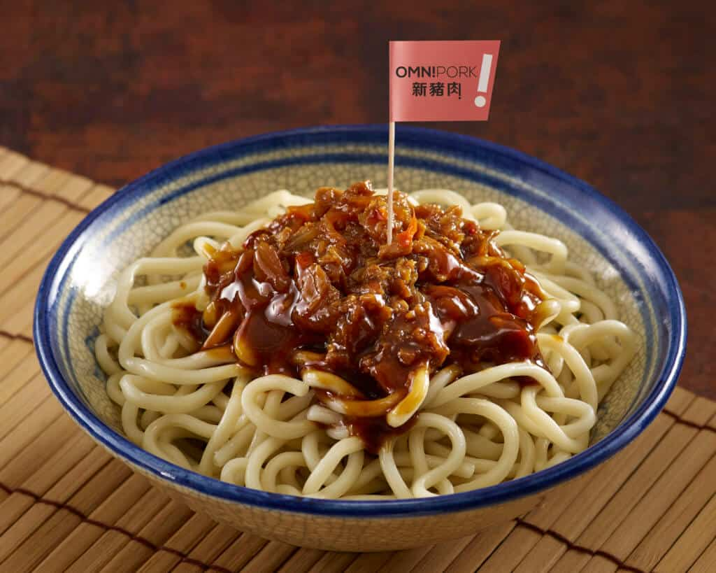 Braised OmniPork Noodles in Korean Style