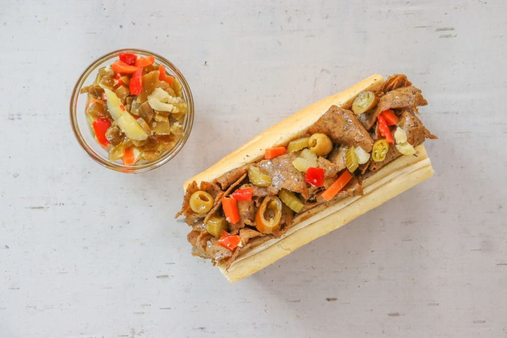Buona Plantbased Beefless sandwich