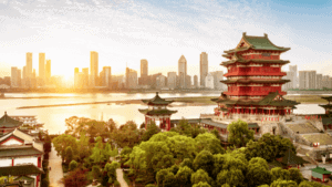 Chinesische Metropole im Wandel zwischen alt und modern