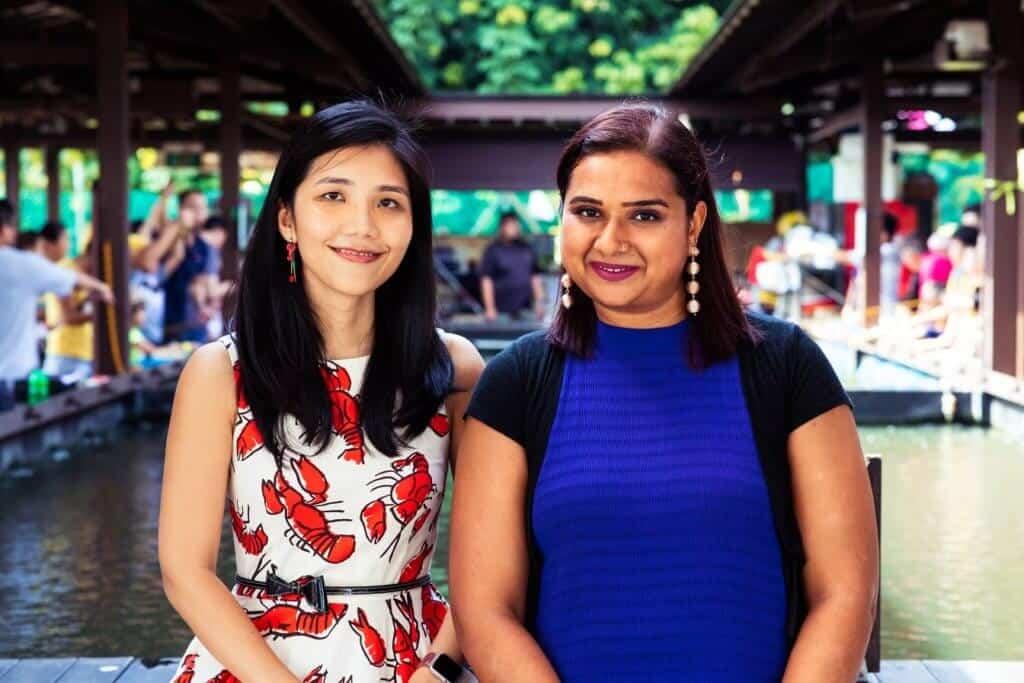 Dr Ka Yi Ling (CTO) (L) and Dr Sandhya Sriram (CEO) (R) HR