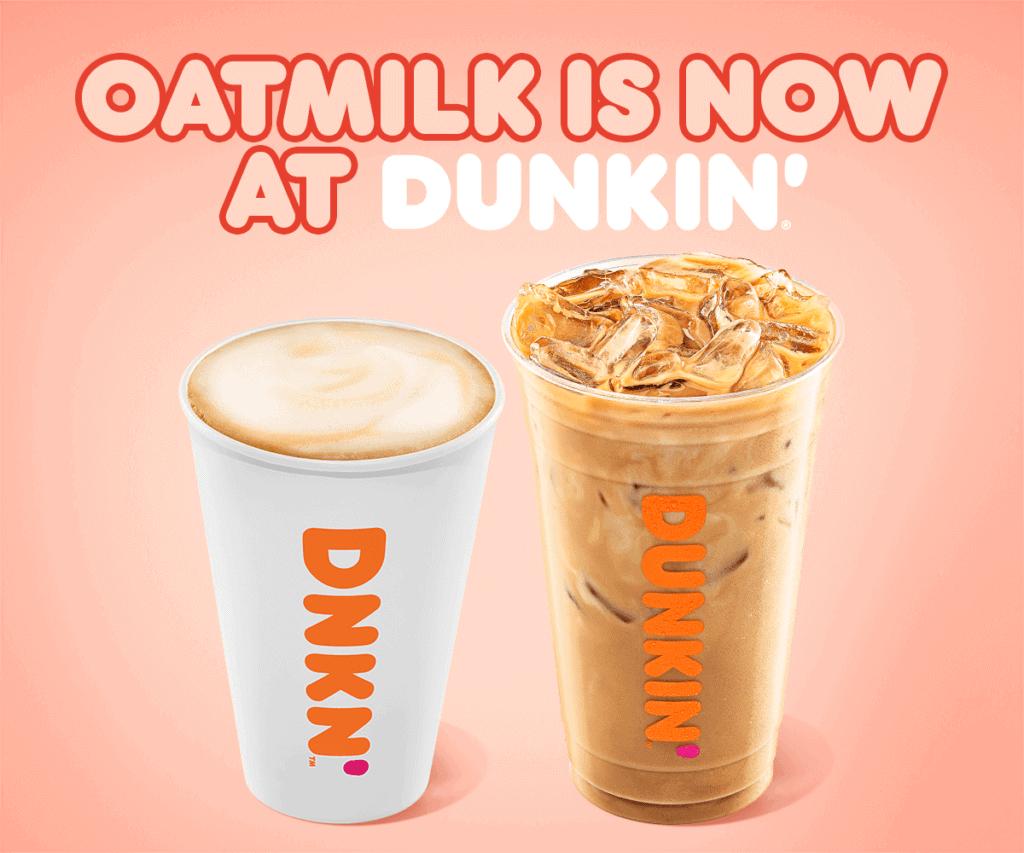 Dunkin' Oat milk, oatmilk