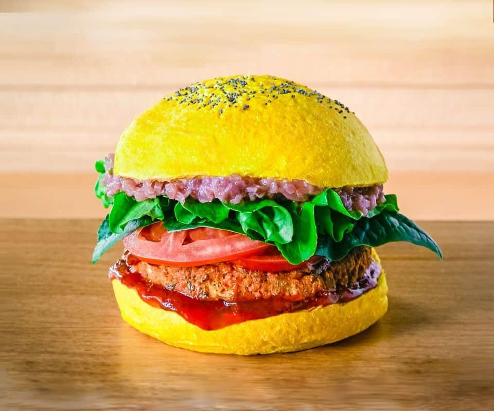 Flower Burger yellow
