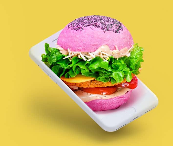 Flower Burger purple