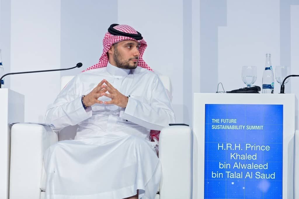 HRH Prince Khaled bin Alwaleed bin Talal Al Saud, Abu Dhabi Sustainability Week 2019