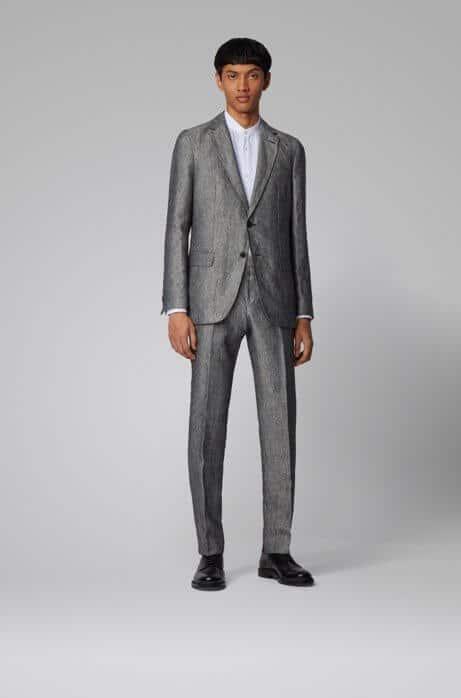 HUGO BOSS vegan suit gray