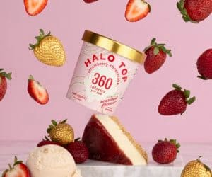 Halo Top strawb cheesecake