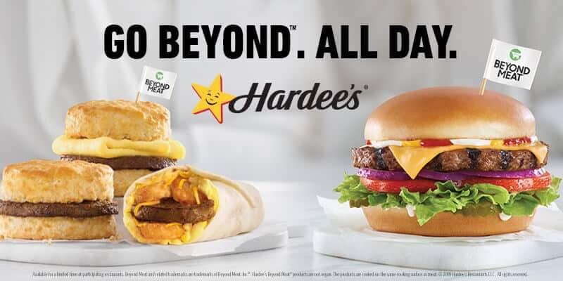 Hardee's Beyond Meat Menu