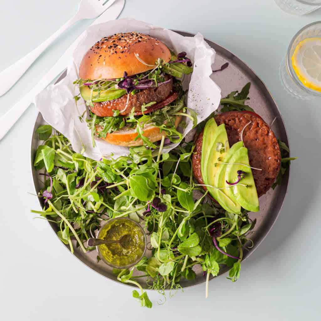 Meatless Farm burgers