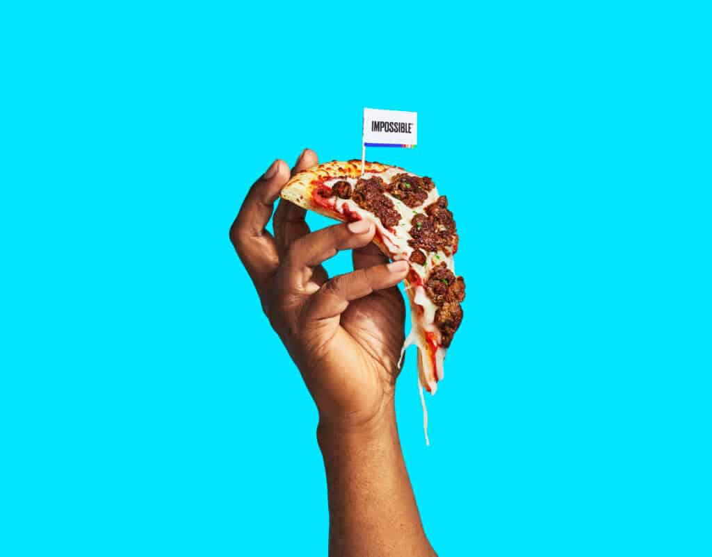 Impossible Foods pizza