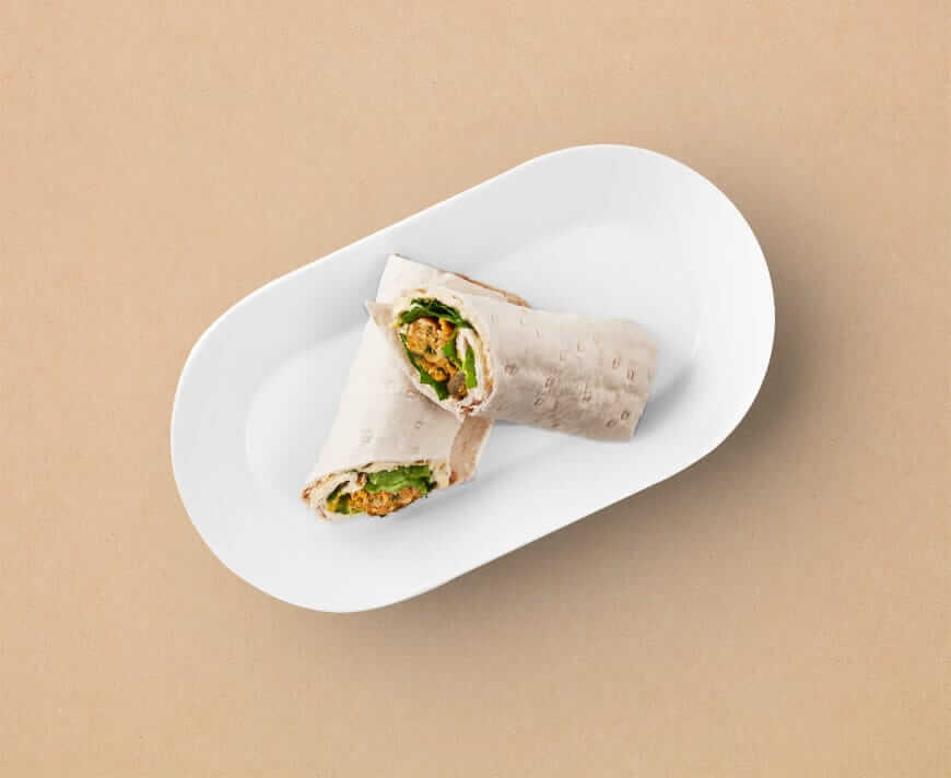 IKEA veggie sausage wrap_sandwich