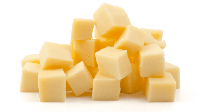 a pile of vegan cheese