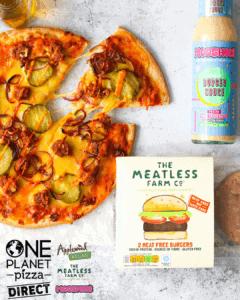 Meatless Farm Cheezeburger Pizza