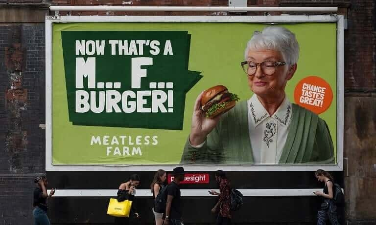 Meatless Farm billboard