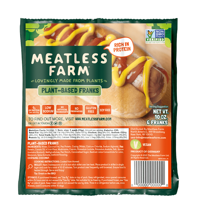 Meatless Farm franks