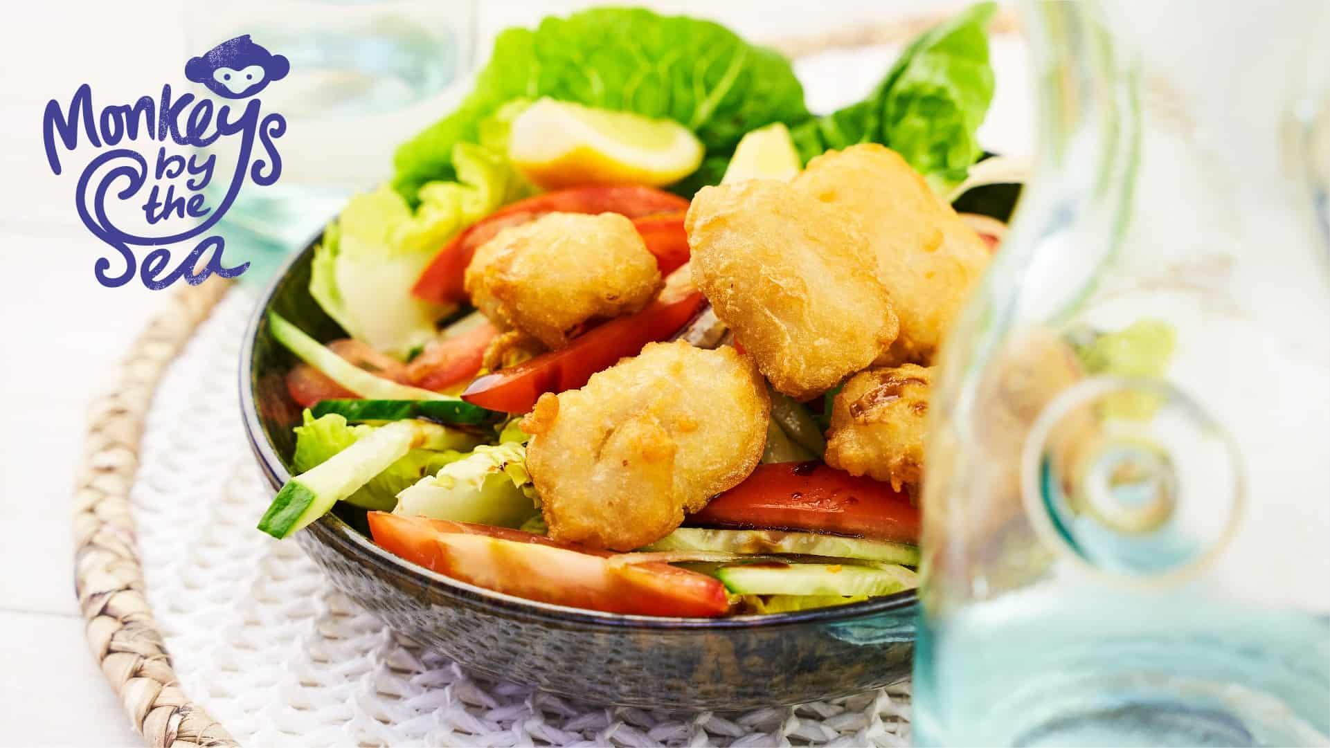 MonkeysByTheSea Crispy cod Salad