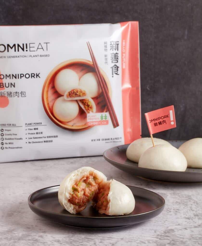 OmniPork Bun together with OmniPork dumpling - The new OmniEat dim sum series