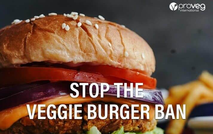 ProVeg veggie burger ban