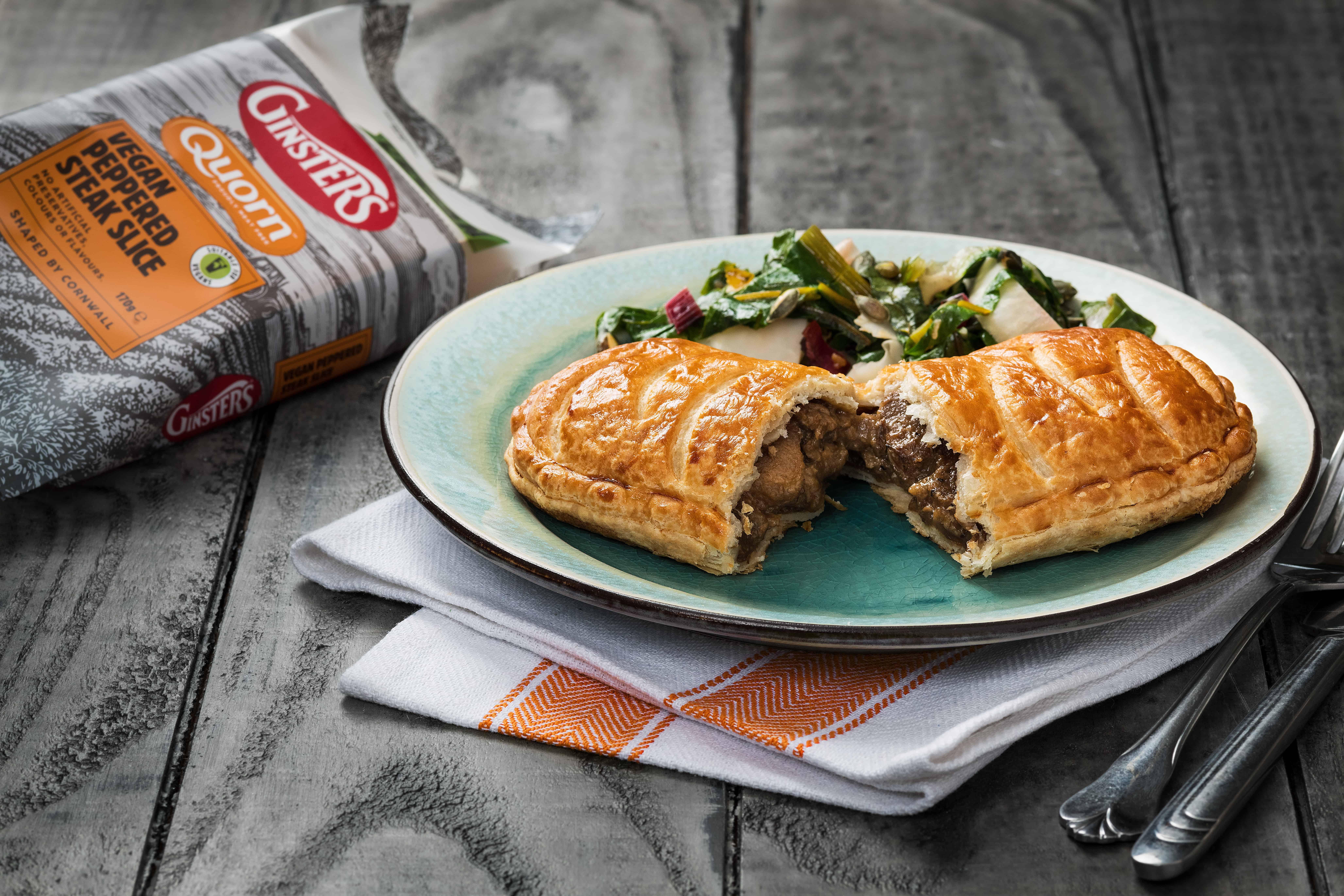Ginsters vegan steak slice