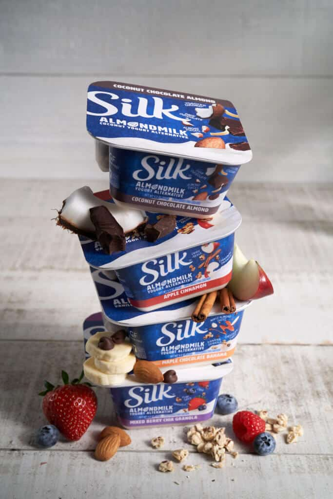 Silk mix in yogurt