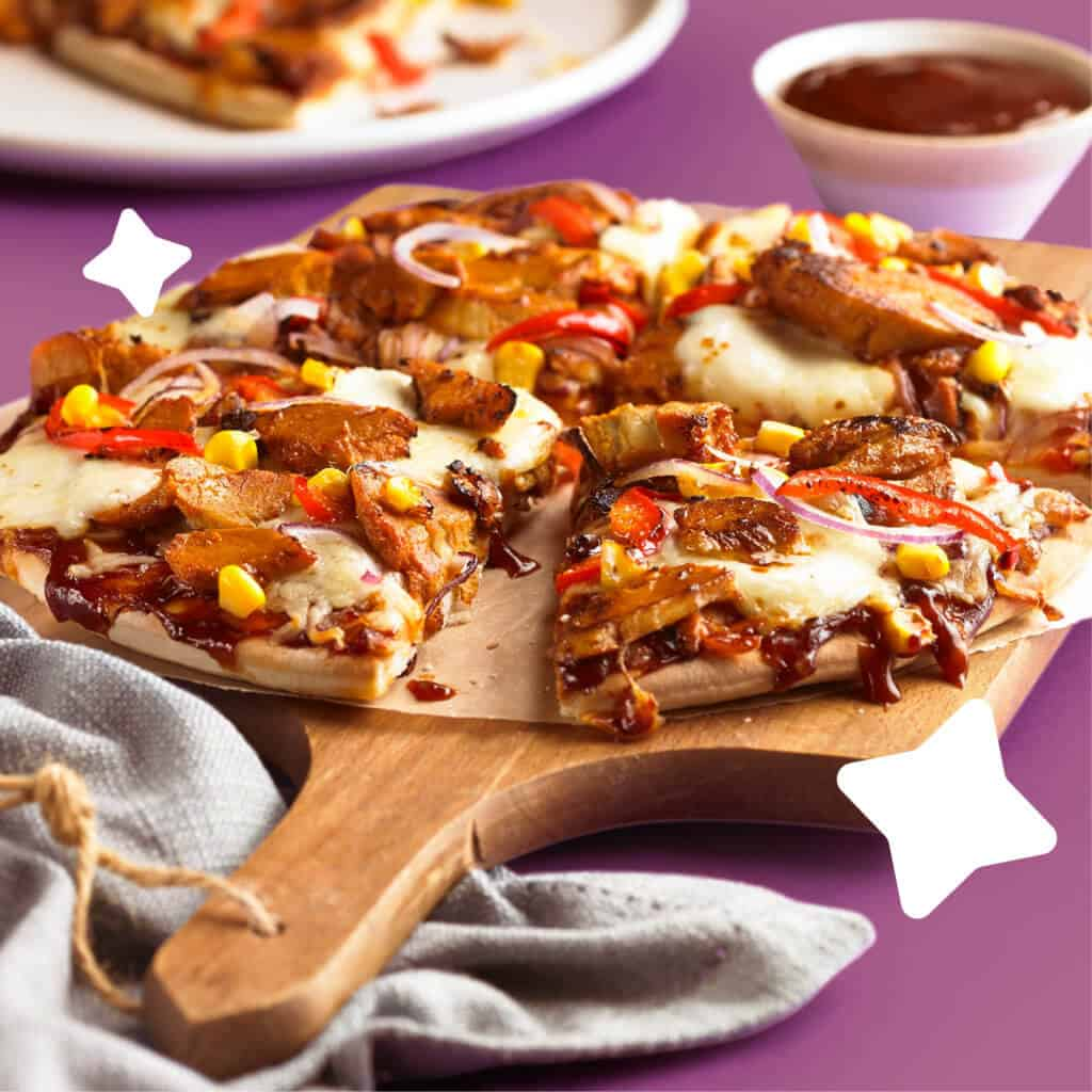 Squeaky Bean BBQ Chicken Style Pizza Squeaks