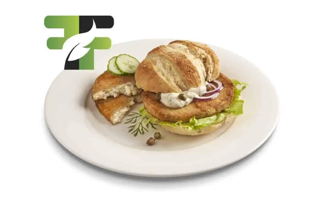 "Vegan Fish burger ""like fish"" © Future Food Group"