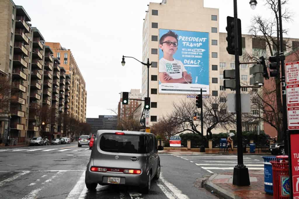 Million Dollar Vegan billboard