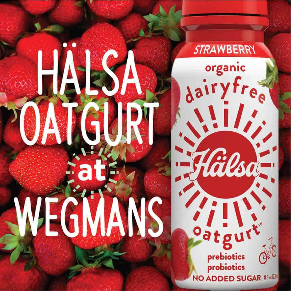 Wegmans Food Markets to Carry New Hälsa Clean Label Oatgurt Drinks (PRNewsfoto/Halsa)
