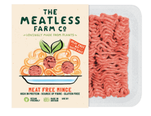 "The Meatless Farm creates plant-based mince and burgers for everyday cooking that are promoted as ""meat-free, not taste-free."""