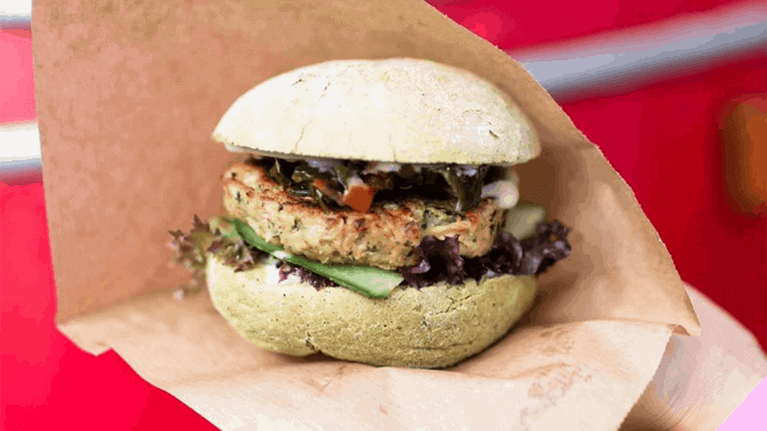 The Dutch Weedburger seaweed burger